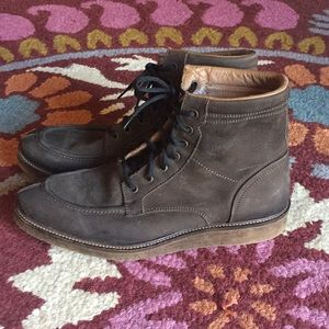 Zara Men Brown Suede Ankle Boots Size 45